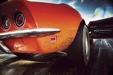 1 Vette Corvette Chevy 1969 Sport Car 24 Vintage 43 Carousel Orange 12 Metal 18