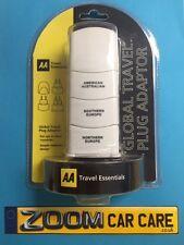 AA Travel Essentials Global Travel Plug Adaptor - USA, Australia, Europe - NEW