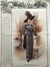 MODE PRATIQUE October 19,1912 +sewing patterns - Evening dress, costume