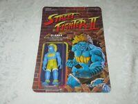 Super7 ReAction Street Fighter II Champion Edition Blanka Blue Yellow Figure