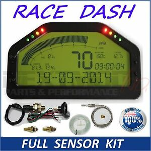 Dash Race Display - FULL SENSOR KIT, Dashboard LCD Screen; Gauge Rally Motec AIM