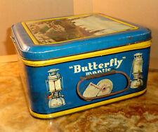 BLECHDOSE Butterfly Mantle REKLAME Petroleumlampe 350 KARBIDLAMPE Brenner 1960