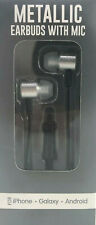 Metallic Earbuds With Mic For iPhone Galaxy Android Noise Isolating Hands Free