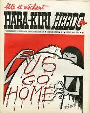 """HARA-KIRI HEBDO N°5 du 3/3/1969"" REISER : US GO HOME"