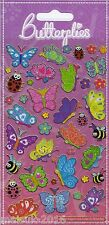 Paper projects Happy Butterflies re-usable foil stickers