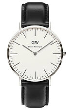 Daniel Wellington Watch Classic Sheffield 40mm Leather Silver 0206DW
