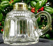 Antique Blown Finger Oil Lamp, Whale Oil, Kerosene, 1800's, Nice Fitter, Uranium