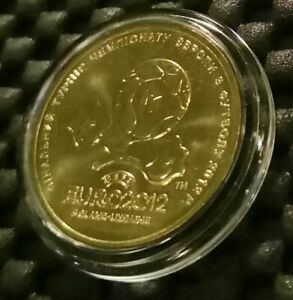 "Ukraine Coin 2012 1 Hryvnia ""UEFA Euro 2012"" in a capsule"