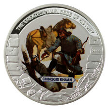 LIBERIA 5 $ GREATEST WARLORDS OF HISTORY - CHINGGIS KHAAN 2009