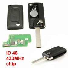 433 MHz 2 Button Flip Car Remote Key Fob Fit For PEUGEOT 107 207 607 207 307 308