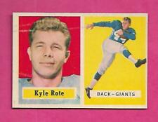 1957 TOPPS  # 59 GIANTS KYLE ROTE EX-MT CARD (INV# C0167)
