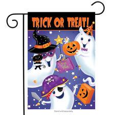 Briarwood Lane Sleeved Garden Flag 12.5x18 Trick Or Treat Halloween Ghosts New
