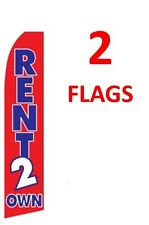 2 (two) RENT 2 OWN RENT TO OWN 11.5' SWOOPER #1 FEATHER FLAGS BANNERS