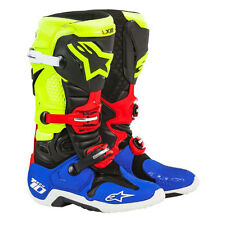 Alpinestars Bottes Tech 10 White Black Yellow Red Blue 9
