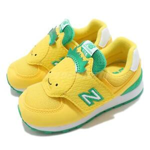 New Balance 574 Wide Yellow Green White TD Toddler Infant Casual Shoe IV574FRC W