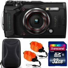 Olympus Tough TG-6 Digital Camera Black + 32GB Memory Card + Strap & Case
