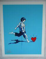 Lora Zombie 'HEARTBREAKER KID' Art Print Hand Signed in Silver pen by The Artist