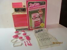 Barbie Stove/Microwave Oven 1982 #2417 In Box With Instructions & Accessories