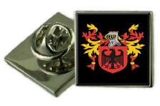 Marshall SCOZIA Stemma di Famiglia Stemma bavero pin badge inciso Regalo Custodia