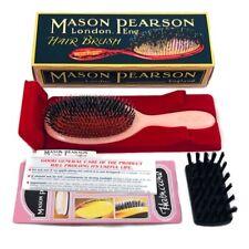 "Mason Pearson BN2 Bristle and Nylon Medium Brush in Pink Color ""Ruby"""