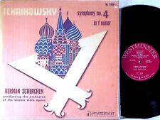 WESTMINSTER 1951 RED Tchaikovsky SCHERCHEN Symphony #4 WL-5096