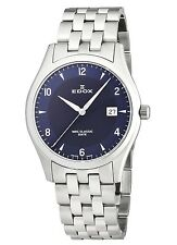 Edox Women's 33018 3 BUIN WRC Luminous Date Blue Dial Stainless Steel Bracelet