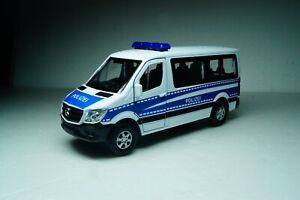 Mercedes Benz Sprinter Traveliner Police Scale 1:50 Welly Diecast car model bus