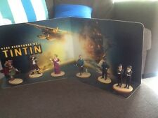 TINTIN LOT DE 6 FIGURINES CARREFOUR AVEC DÉCOR Port Offert