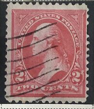 US Stamp Collection Scott #252 Stamp 2c Rose 1894 Nice Cancel Collectors