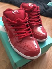Nike Dunk Low SB Red Patent Leather Red Space Jam Sz 10