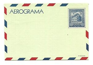 VENEZUELA: Aerogramme  40c.Building / 1956 / Arge #2 / mint
