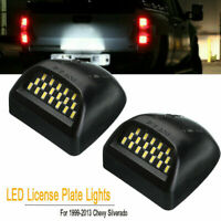 LED License Plate Light Lamps For Chevy Silverado Avalanche 99-13 1500 2500 3500