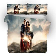 Wonder Woman 3D Design Bedding Set 3PC Of Duvet Cover Pillowcase Double King
