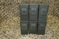 ( 6 PACK ) ONCE USED MILITARY 7.62 / 30 Cal M19A1 AMMO CAN ** FREE SHIPPING**