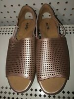 Earth Shelly Womens Leather Perforated Open Toe Sandals Size 8.5 B Blush