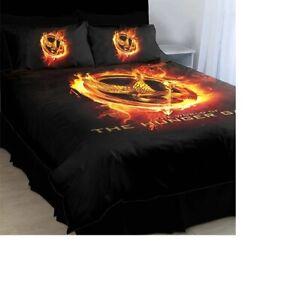 THE HUNGER GAMES Queen Bed Quilt Doona Duvet Cover Set