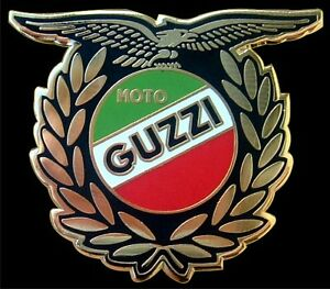 RETRO MOTO GUZZI WINNER ACE MOTORCYCLE BIKER ENAMEL PIN BADGE