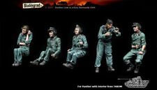1:35 German Panzer Panther Tank Crew World War 2, 5 Figures Resin Model Kit