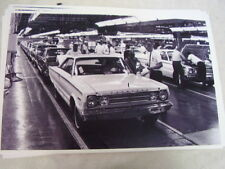 1967 PLYMOUTH BELVEDERE ON ASSEMBLY LINE  11 X 17  PHOTO  PICTURE