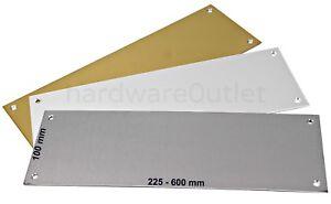 Door Push Plate FINGER PLATE Door Protectors 100 mm Kick Plate UK Manufactured