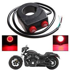 7/8'' 22mm Motorcycle Bike Handlebar On Off Button Head Spot Fog Light Switch