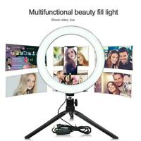 10 'LED Selfie Ringlicht mit Stativ Handyhalter für Live Youtube Makeup