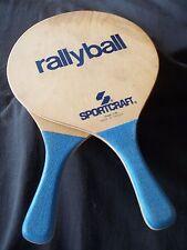 """Sportcraft  """"RALLYBALL"""" Light Weight  Paddle Matkot Set Beach Decor Outdoor Game"""