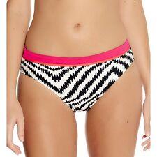 "NWT ""Montebay"" Size ""XL"" Black/Ivory Bikini Swim Bottom Fantasia Style #5978"