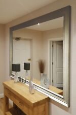 Large Wall Mirror 6ft9 X 4ft9 206 X145cm Champagne Silver Modern Leaner