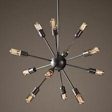 Vintage Industrial Pendant Ceiling Sputnik E27 12 Heads Edison Light Chandelier