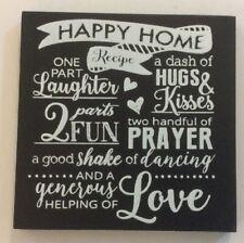 Happy Home Recipe Hugs Fun Laughter Ganz Wooden Magnet Kitchen Refrigerator