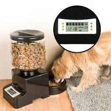 Distributore di Cibo per Animali Domestici con Timer, Ciotola Cani e Gatti, 5 l