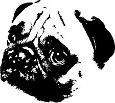 Pug vinyl decal sticker for car/truck laptop window custom