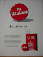 1965 Pall Mall Famous Cigarettes nice Full Color Page Vintage Print Ad 10276